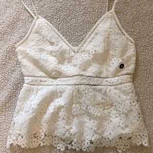 Abercrombie and Fitch White lace top